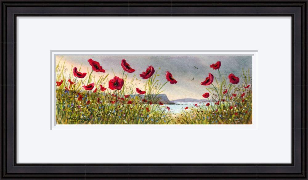 Causeway Flowers Print in Black Frame