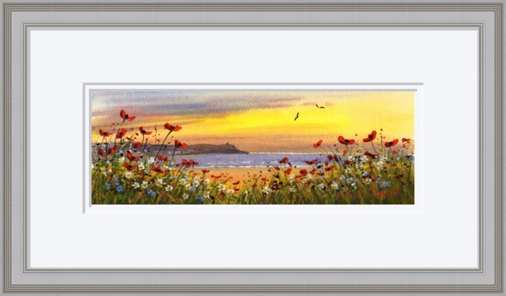 Downhill Castlerock Print in Grey Frame