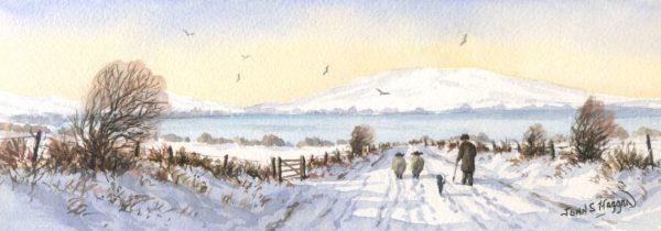 Winter Walk Print (LNG051)