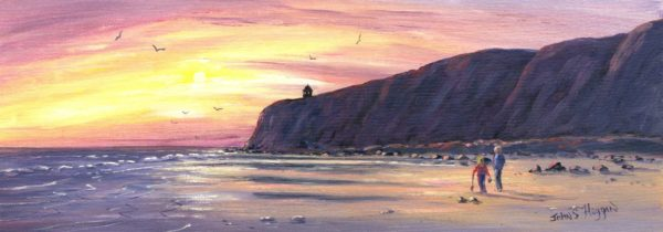 Downhill Beach Print (LNG062)