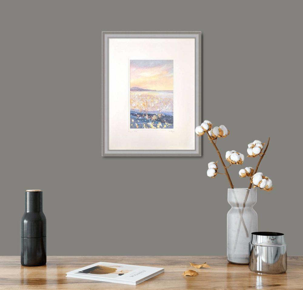 Tranquil Tide in Grey Frame in Room